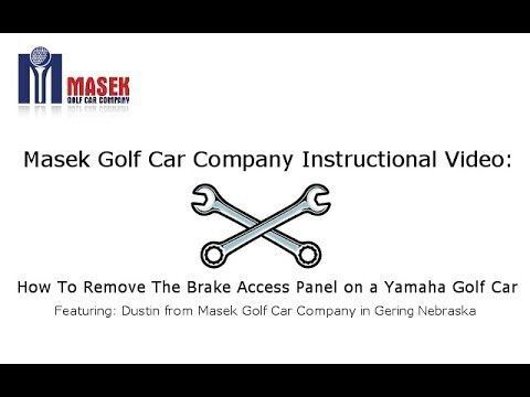 Instructional Video on How to Remove The Pedal Access Panel on a Modern Yamaha Golf Car.