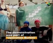 "Snapshot | The demonstration was part of ""Operation Burkini\"